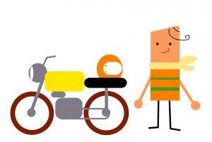 試験場でバイク免許受験