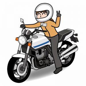 中型バイクに乗る人